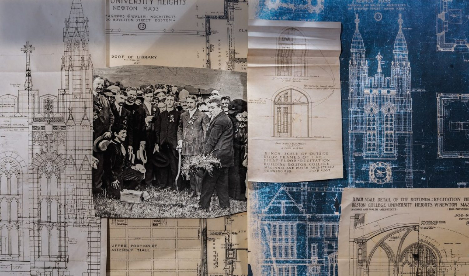 blueprints and historical images
