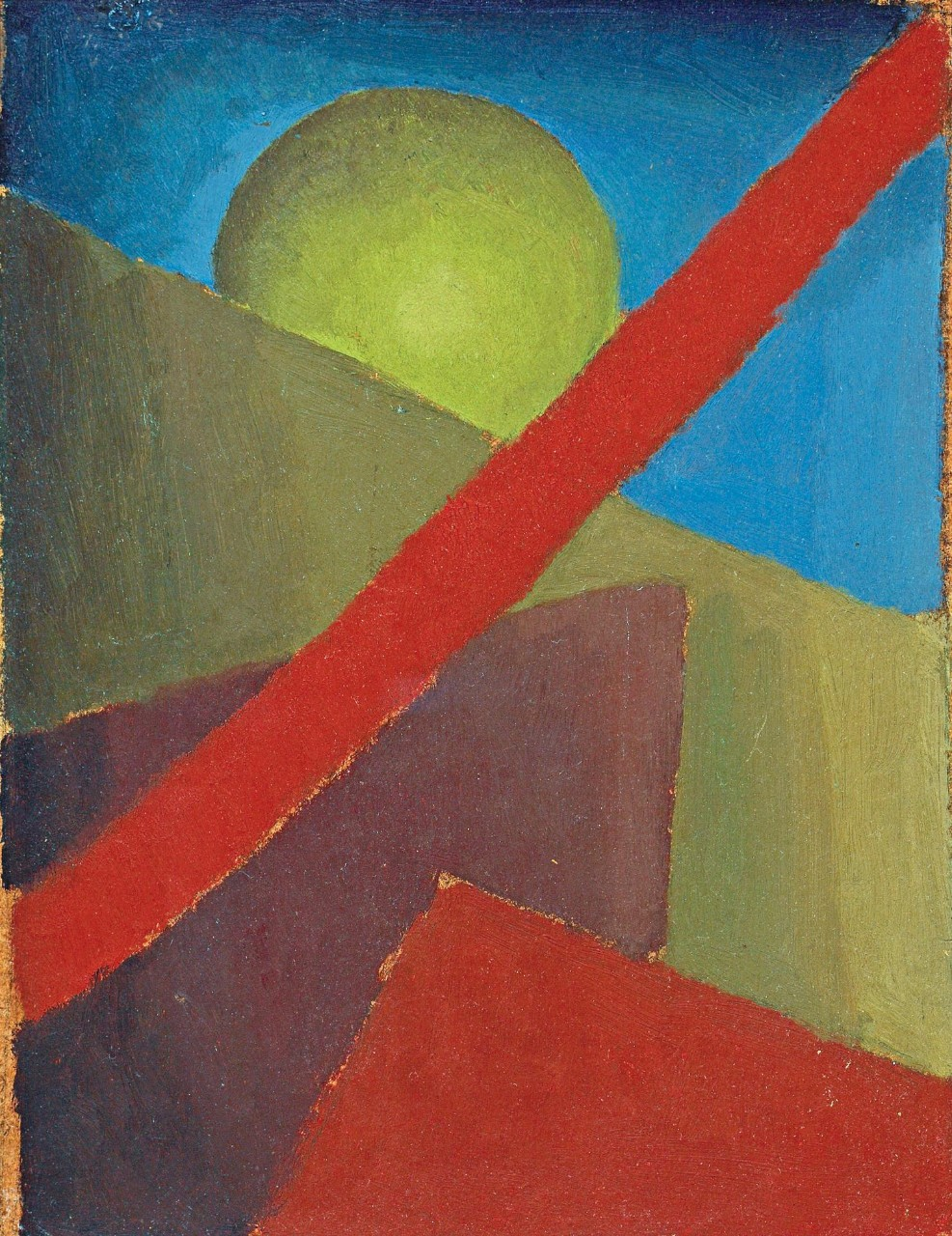 Esteban Lisa (1895–1983), Composición (Composition), c. 1935 (front) _ oil on cardboard, 30 x 23 cm, private collection © Fundación Esteban Lisa