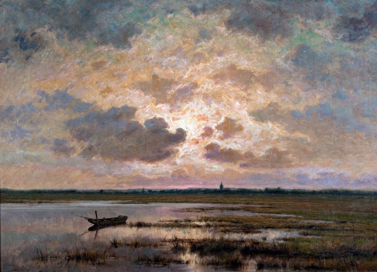 Frans van Kuyck (1852–1915), Marsh at Twilight, n.d.