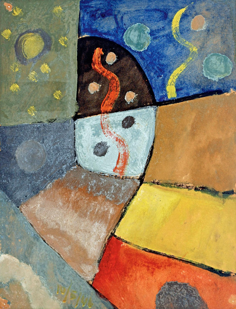 Esteban Lisa (1895–1983), Composición (Composition), c. 1946 _ oil on cardboard, 30 x 23 cm, private collection © Fundación Esteban Lisa