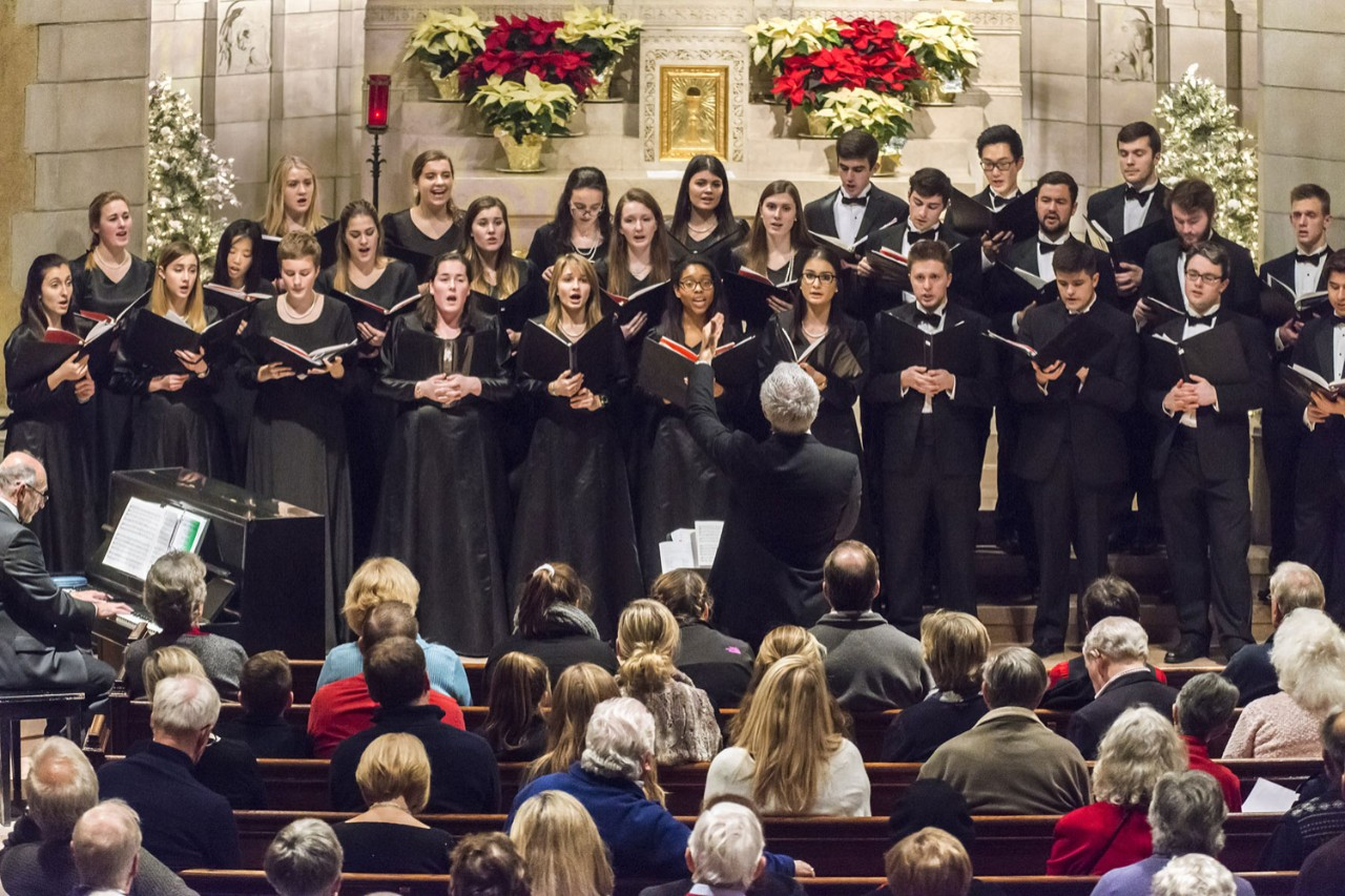 The University Chorale of Boston College annual Christmas concert at St. Mary's Hall