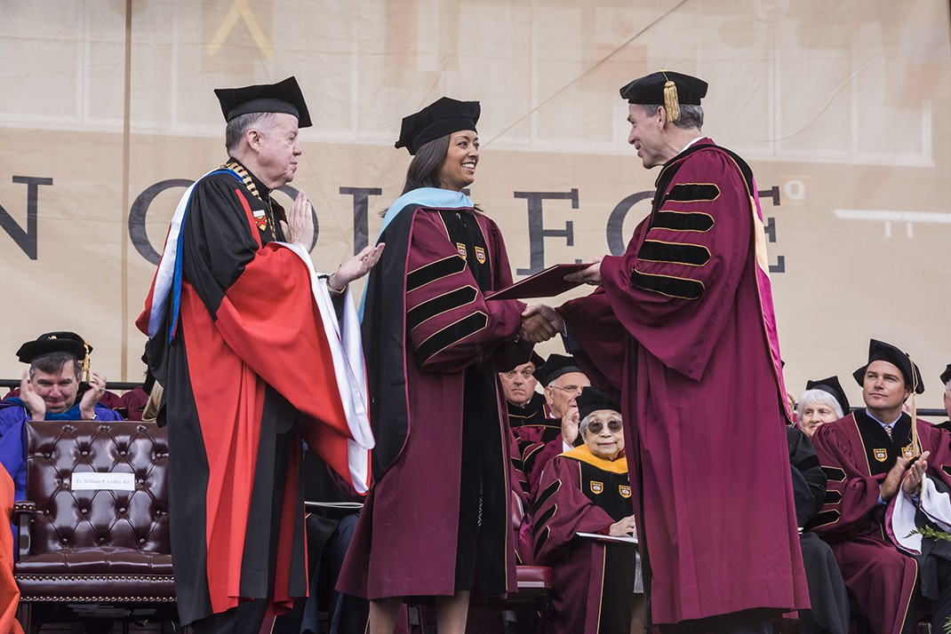 Alumna Tiffany Cooper Gueye, chief executive officer of BELL (Building Educated Leaders for Life), received an honorary Doctor of Science in Education degree.