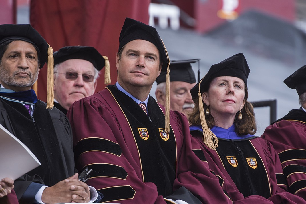 Film, Broadway, and television actor Chris O'Donnell, an alumnus of the Carroll School of Management, received an honorary Doctor of Humane Letters degree