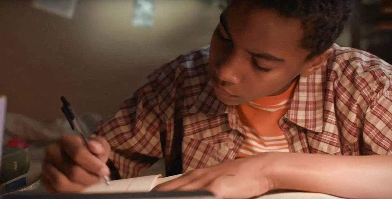 Terrell Ransom Jr., who portrays young Steve Pemberton, in a scene from the film.