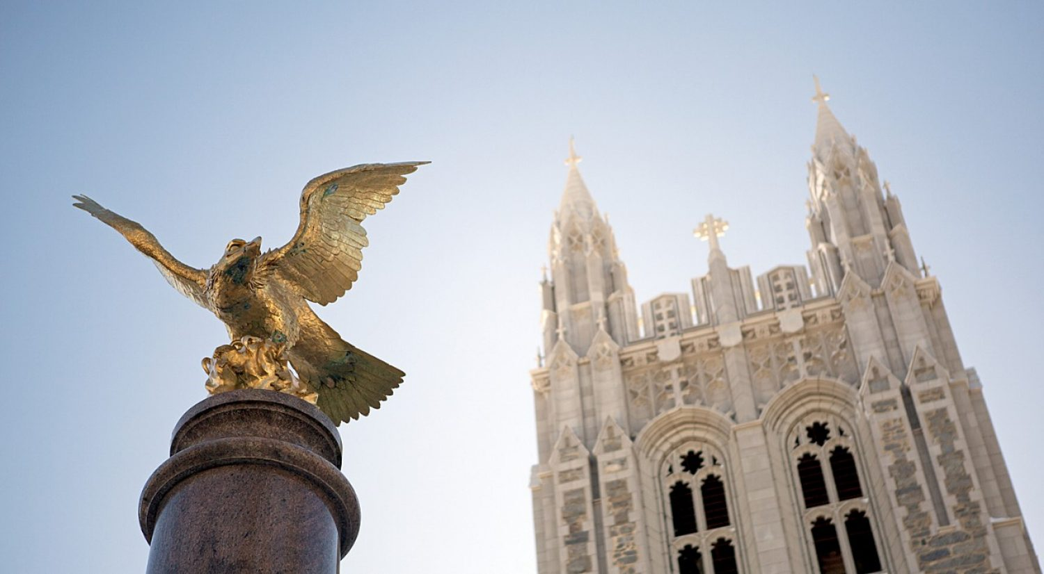 Gasson tower and Eagle statue