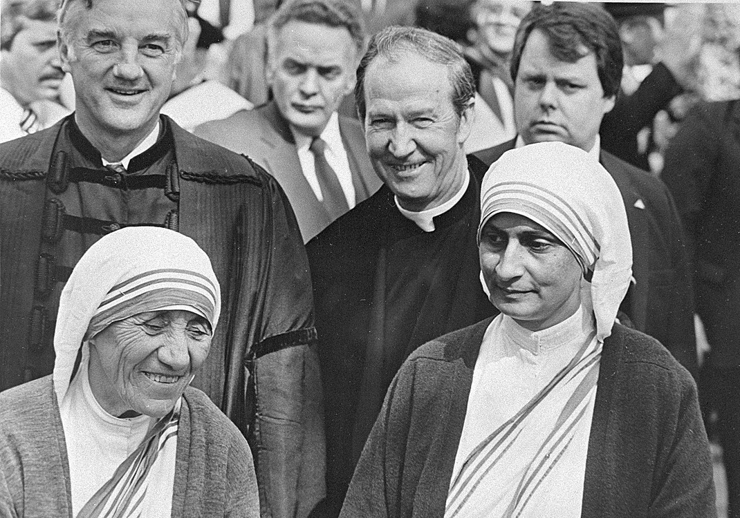 Fr. Monan with Mother Teresa at Harvard