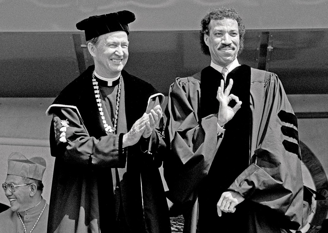 Fr. Monan with Lionel Richie