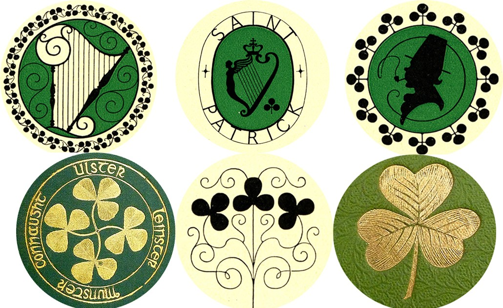 Irish buttons by Burns Library