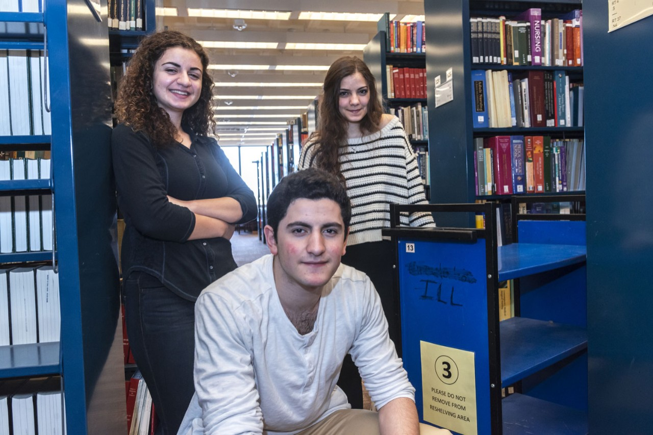 (L-R) BC undergraduates Layla, Matthew and Jude Aboukhater.