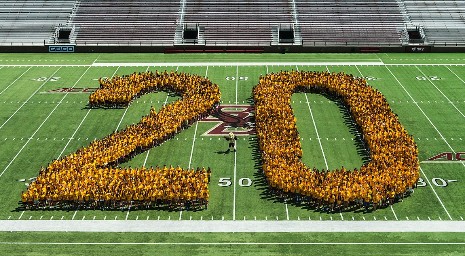 BC Class of 2020 first official photo in Alumni Stadium
