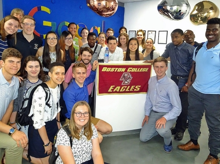 BC Students Visit Google's Ghana office
