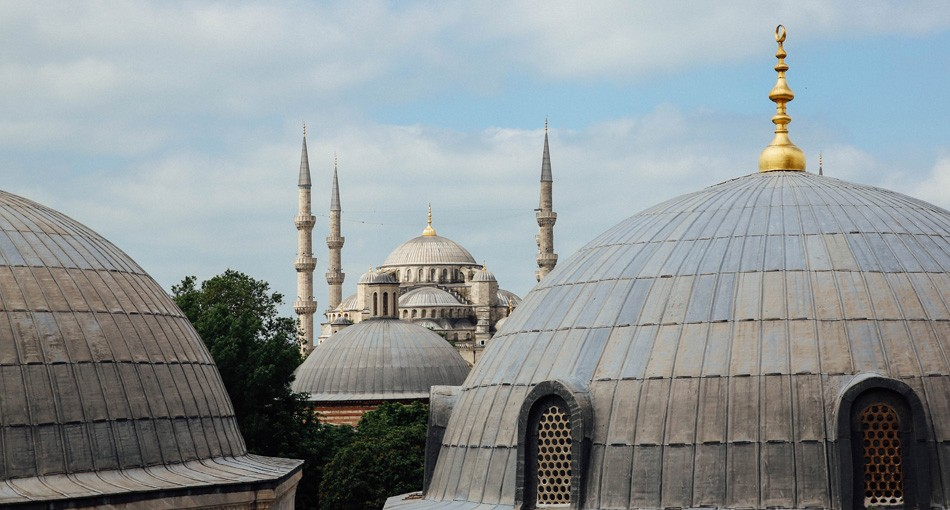 Hagia Sophia museum and the Blue Mosque