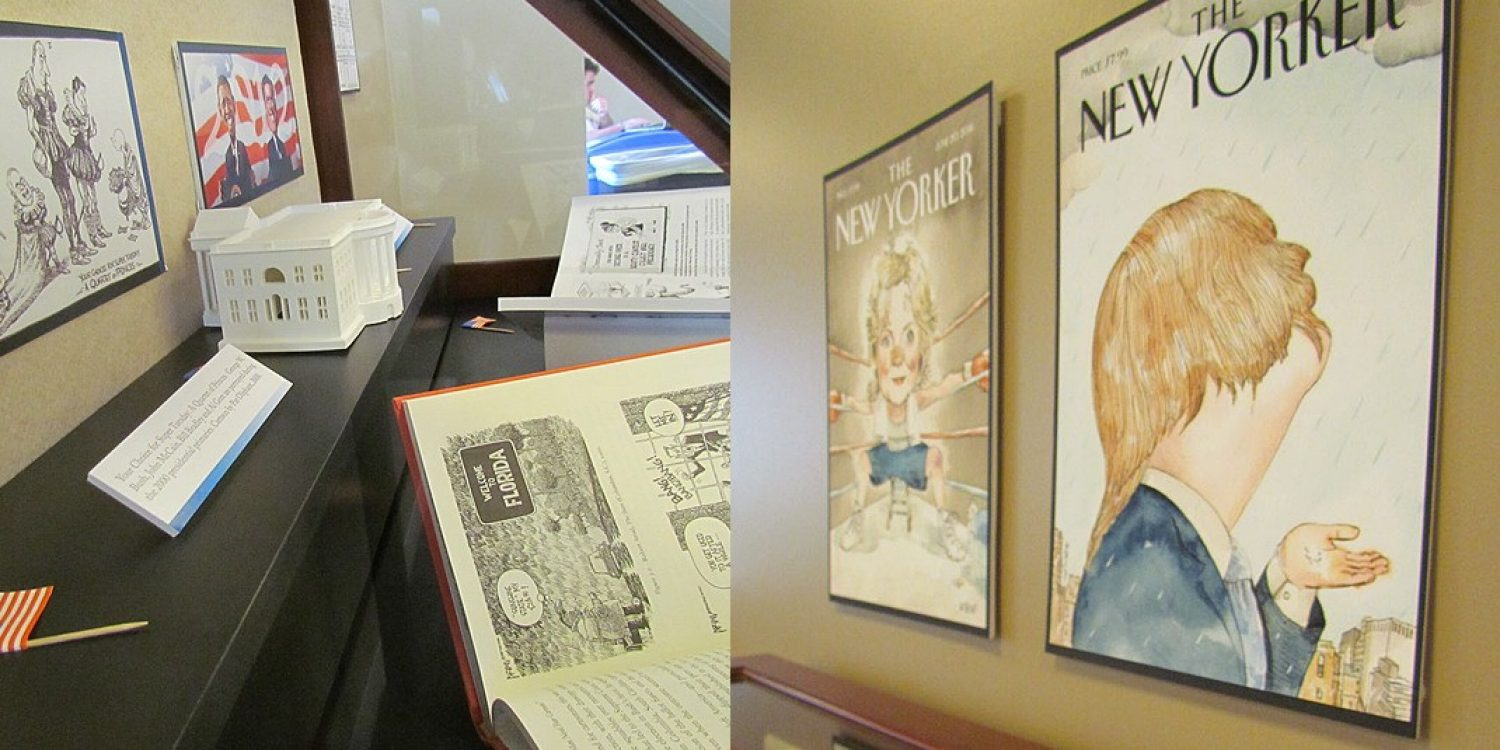 Campaigns and cartoons exhibit