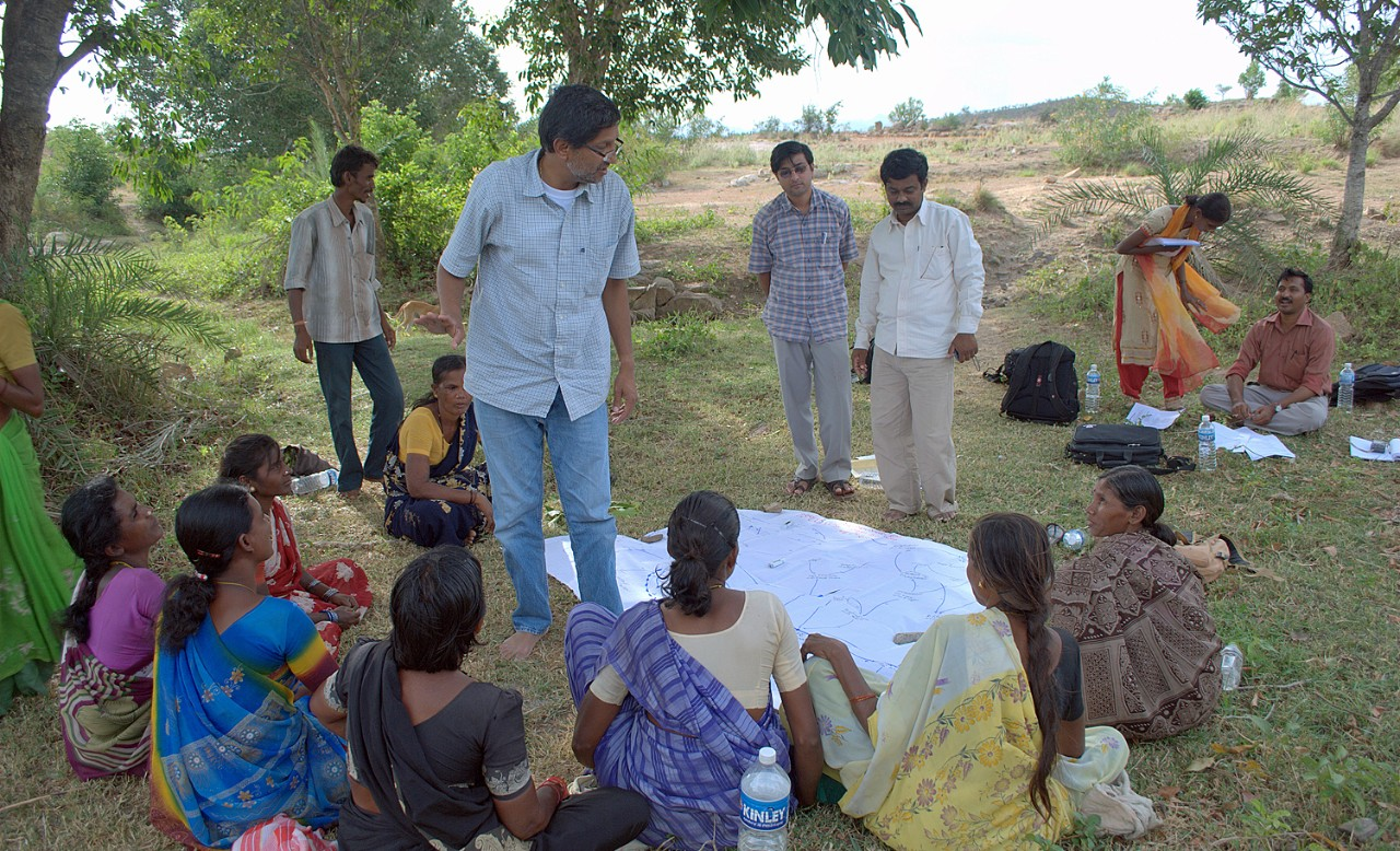 Gautam Yadama at work in the community.