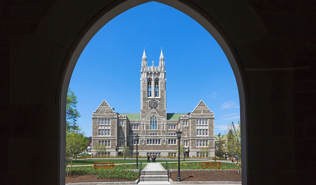 Gasson Hall from Fulton Hall
