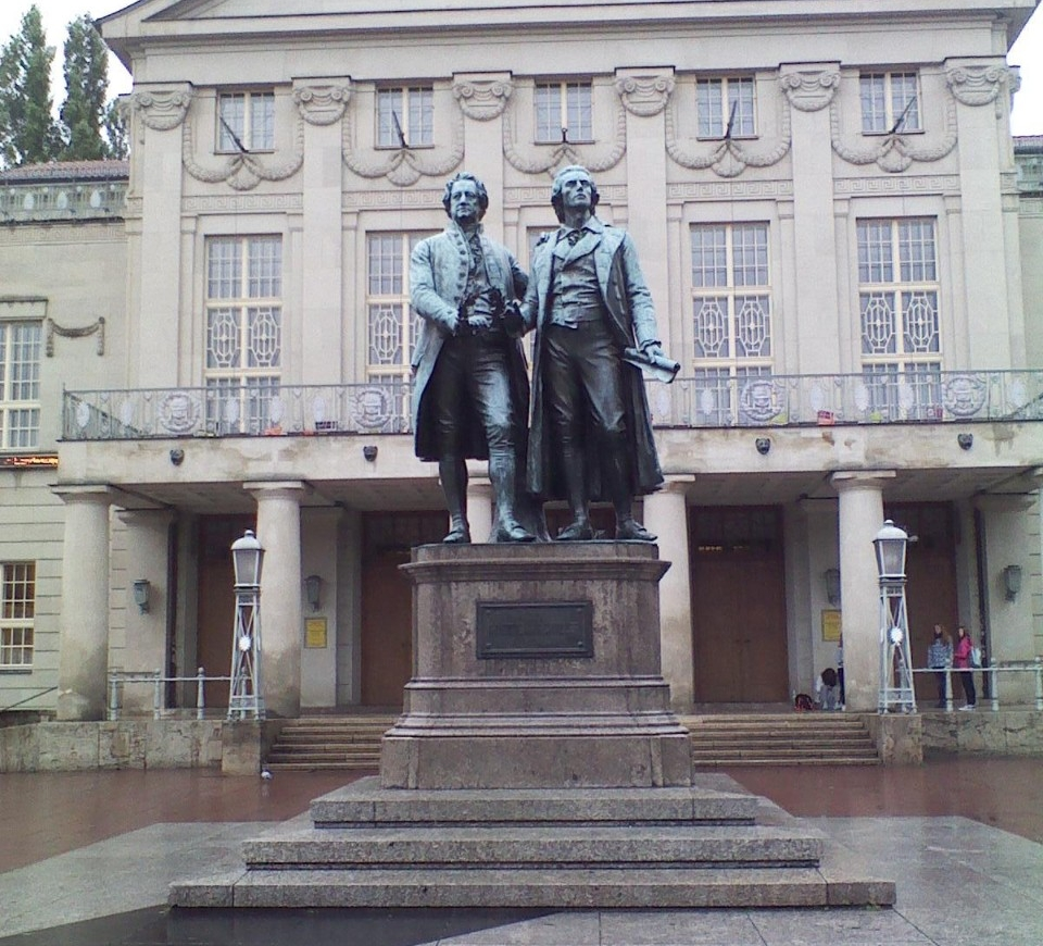 1. Goethe-Schiller-Denkmal in Weimar, Germany - Photo: Martha Kraft