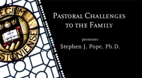 Pastoral Challenges to the Family