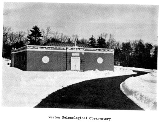 Weston Observatory, historical image of the building