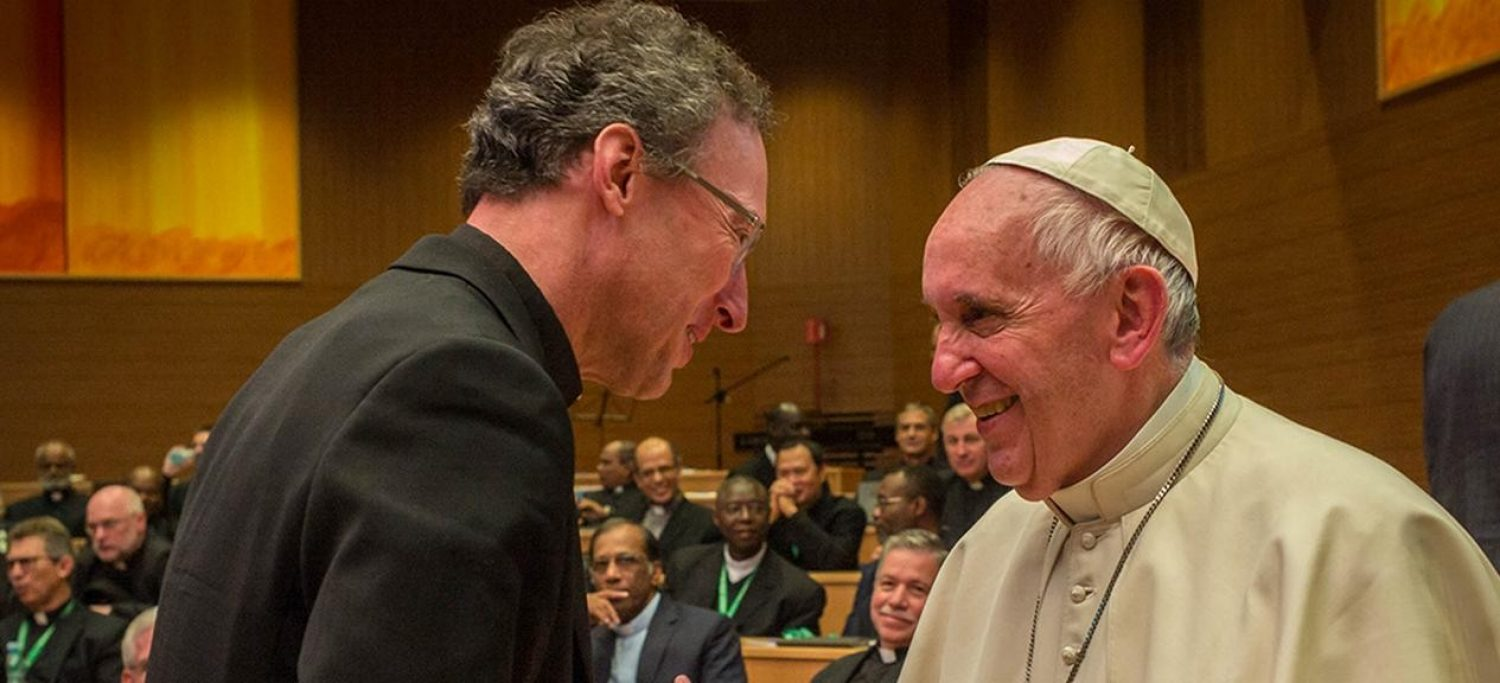 Pope Francis and Thomas D. Stegman, S.J.