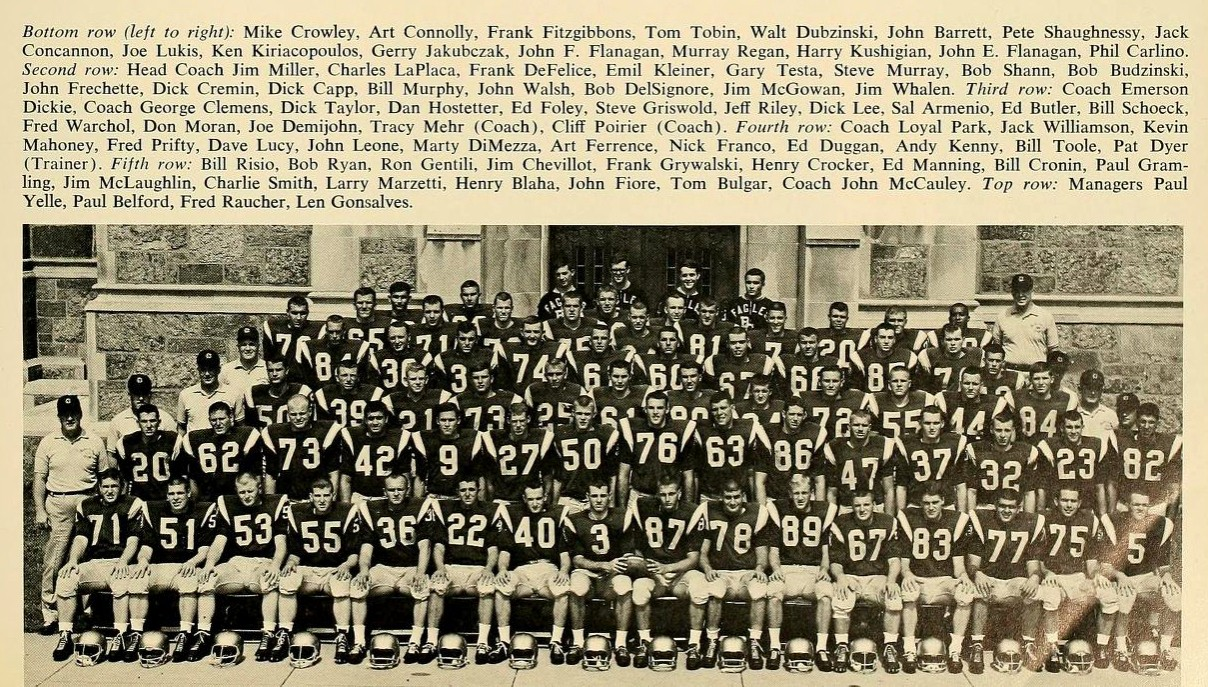 Boston College Football Team 1964