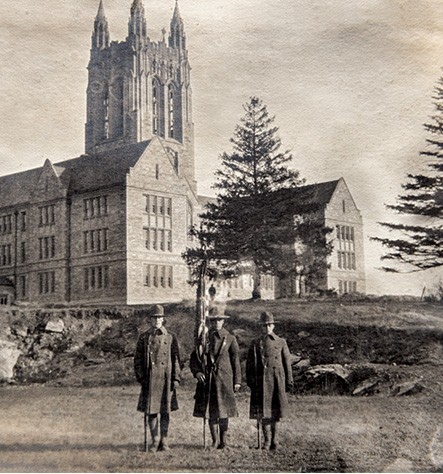 Old photo of Gasson Hall