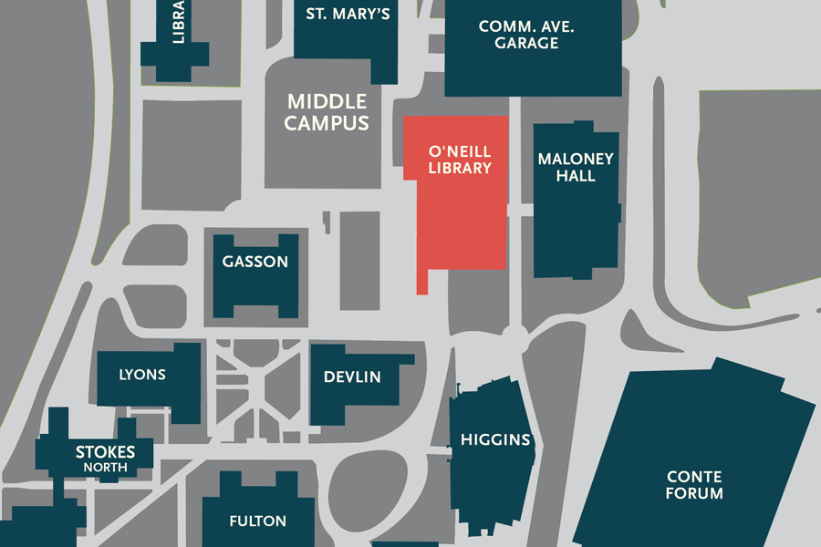 A campus map