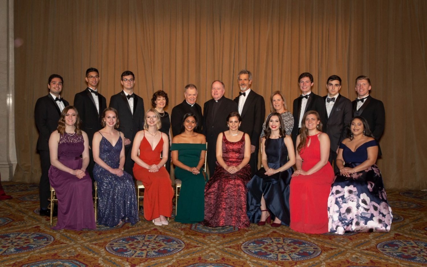 Group photograph of presidential scholars at the Wall Street Tribute Dinner