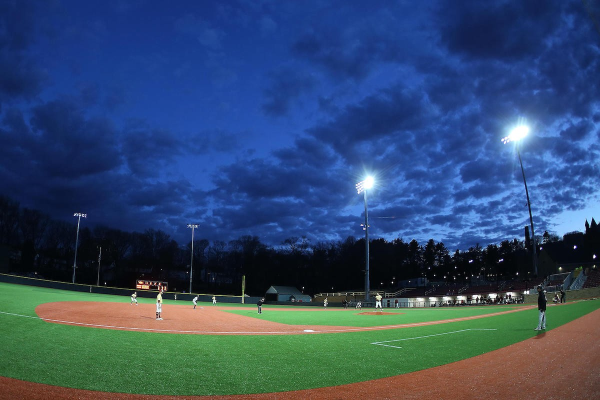 Brighton baseball field at dusk