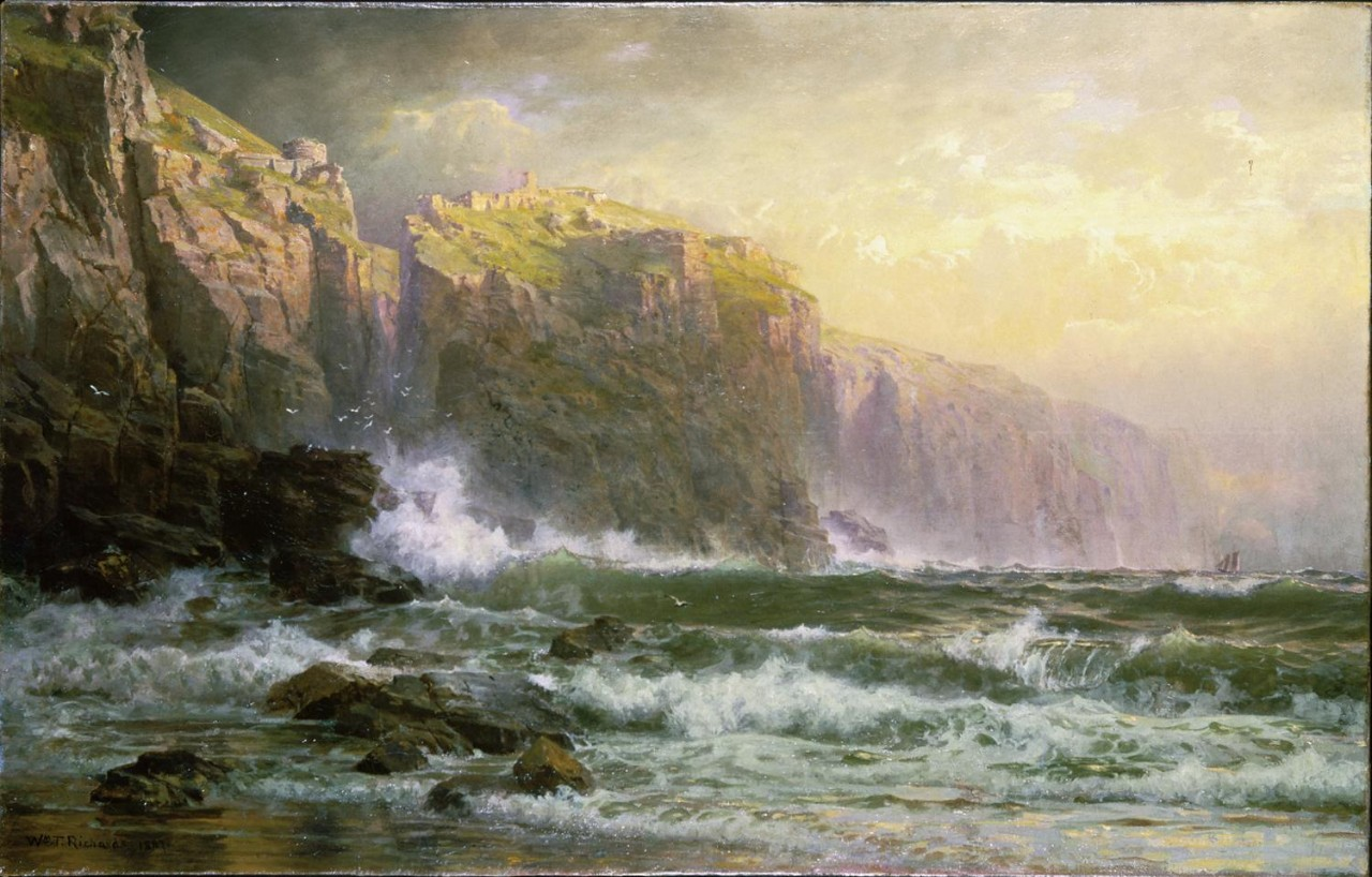 William Trost Richards (1833–1905), The League Long Breakers Thundering on the Reef, 1887. Oil on canvas, 28.2 x 44.1 in., Brooklyn Museum, Bequest of Alice C. Crowell, 32.140.