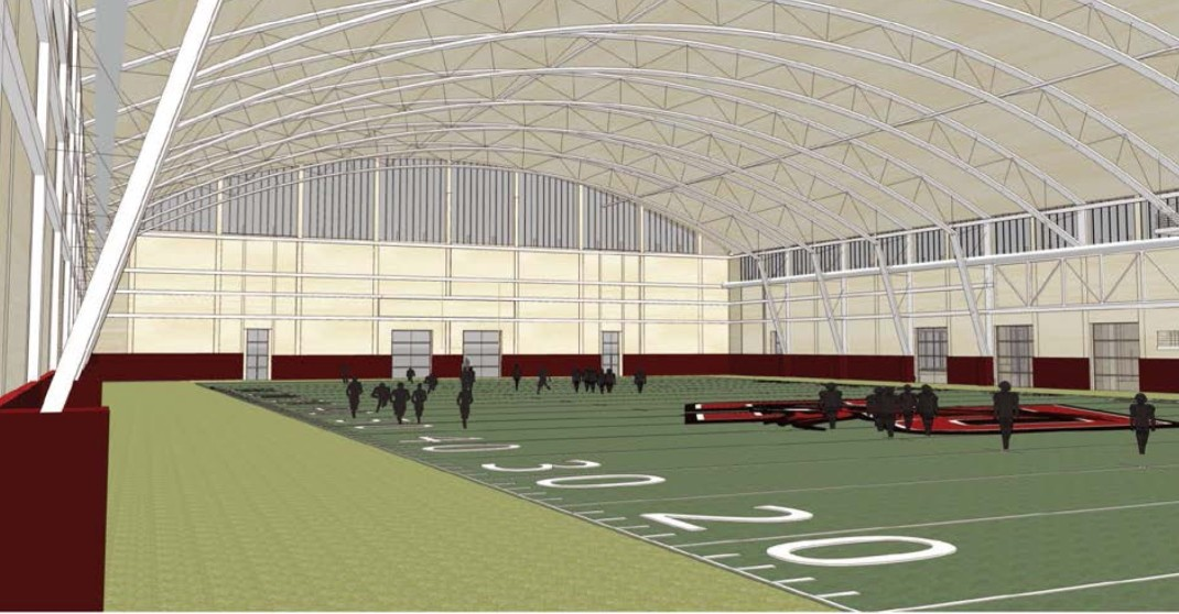 Rendering of the interior of the athletics field house