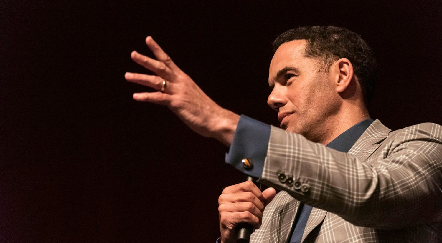 Diversity champion and author Steve Pemberton '89 chats with BC students