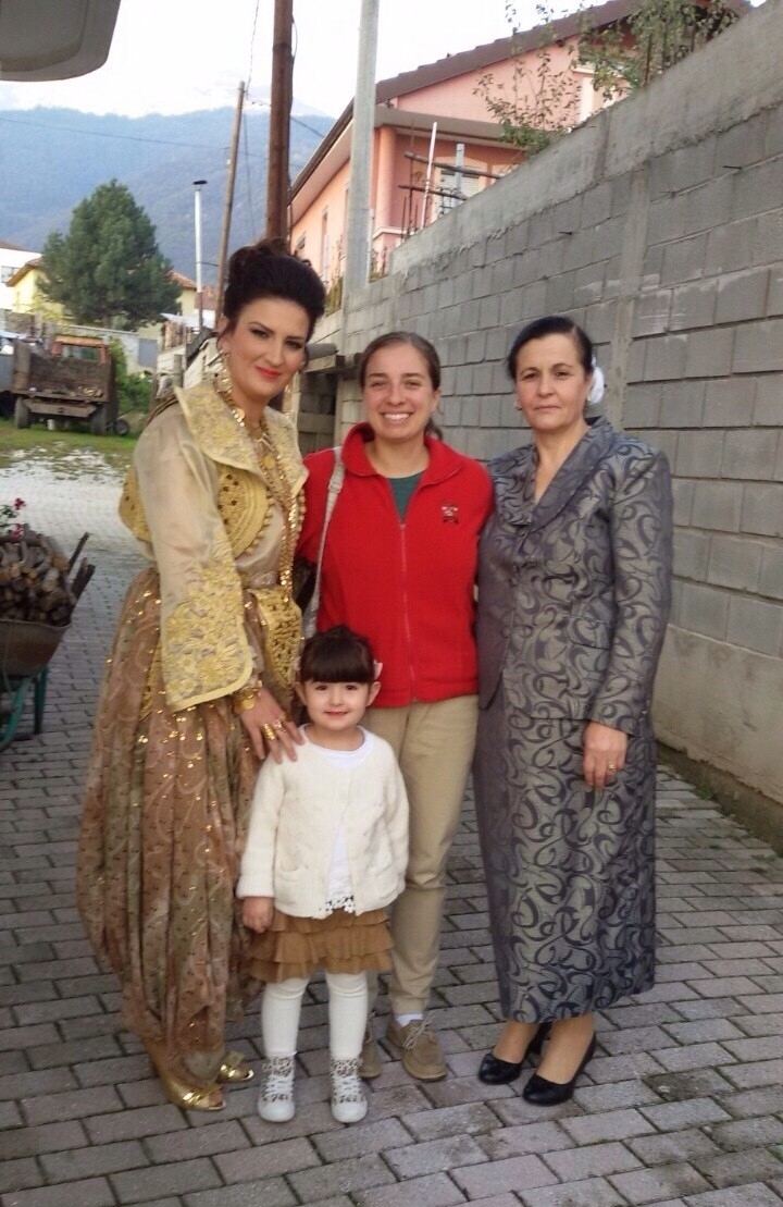 Lynch School of Education alumna Claire Aloe '11, M.Ed.'12 serves as a secondary school English language resource teacher at her Peace Corps volunteer placement in Macedonia.
