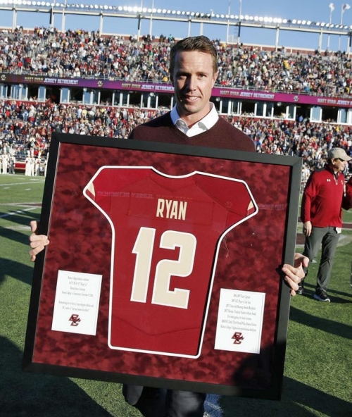Matt Ryan jersey retirement ceremony, Alumni Stadium, Boston College, 2016
