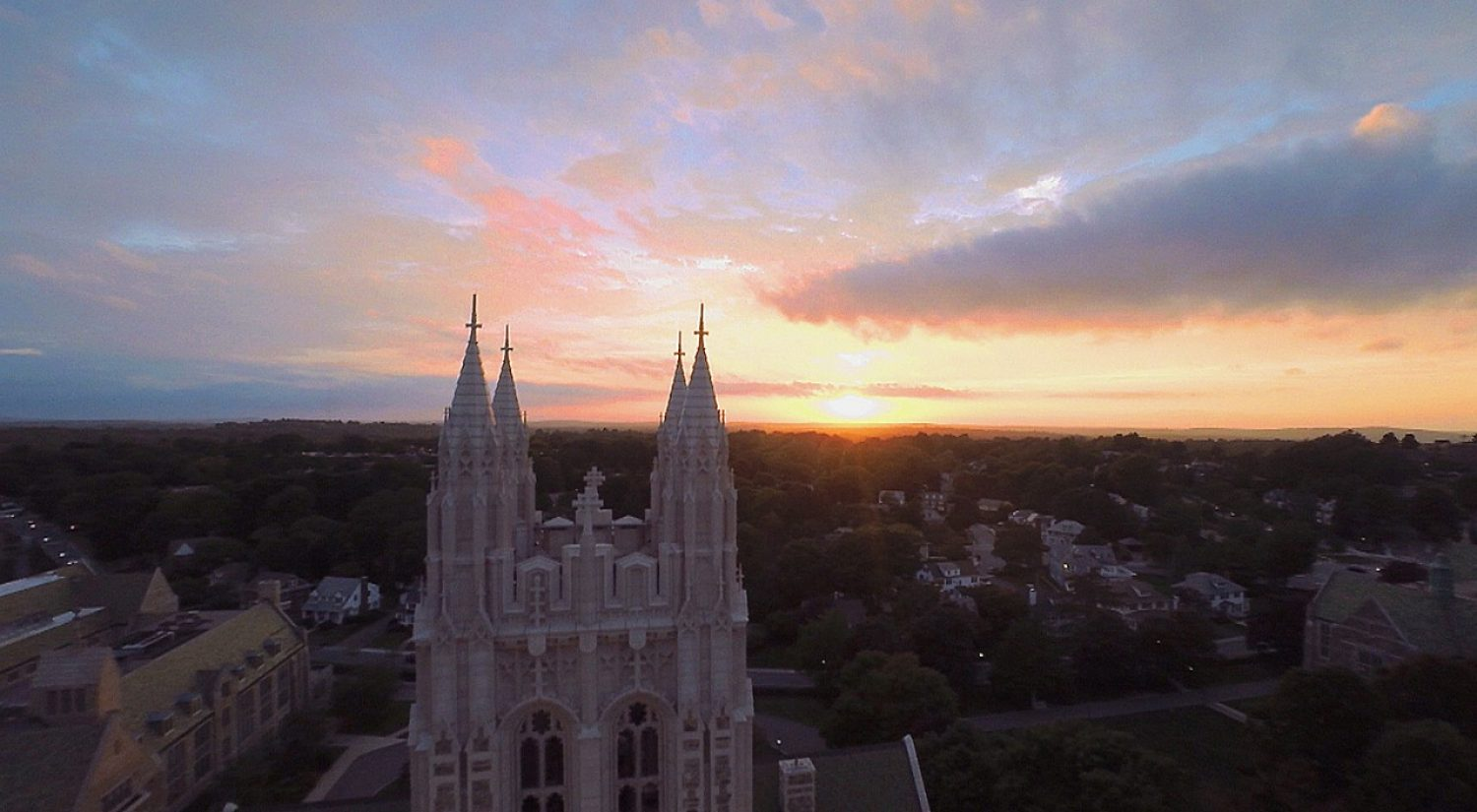 Gasson tower at sunset