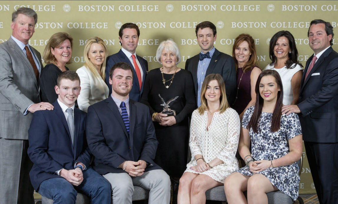 The Connell family at Boston College in 2016