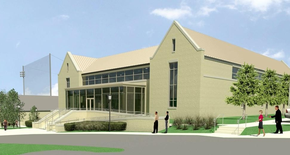 Rendering of Pete Frates Center in Harrington Athletics Village