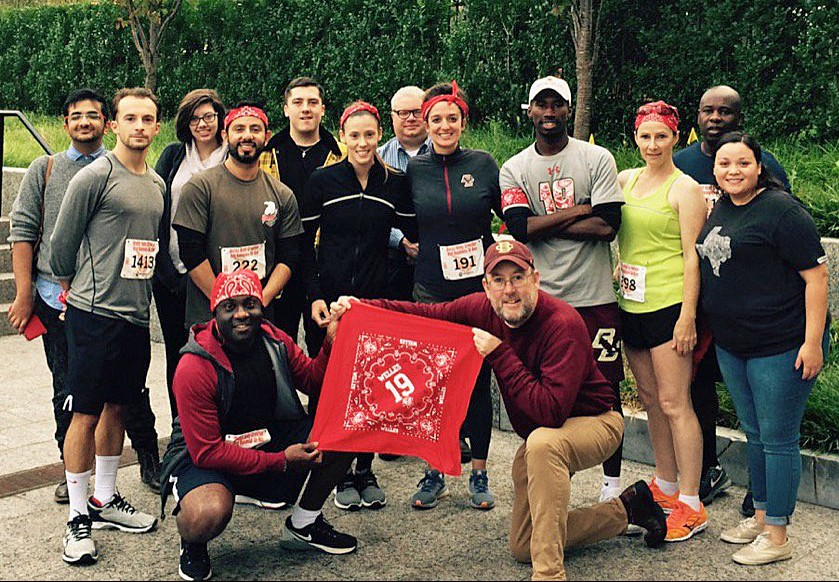 The Woods College team at this year's Welles Remy Crowther 5K Red Bandanna Run.