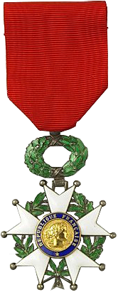 The medal of the Légion d'honneur