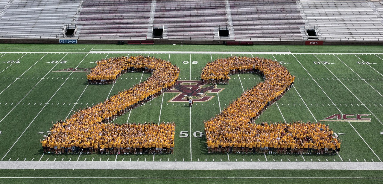 Class of 2022 official portrait in Alumni Stadium