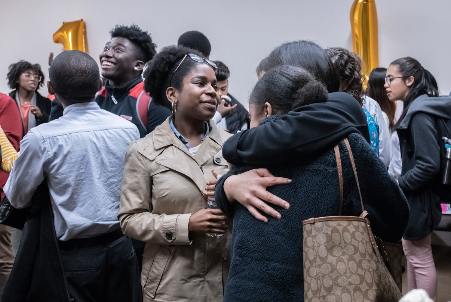 A reception for first-generation students at BC