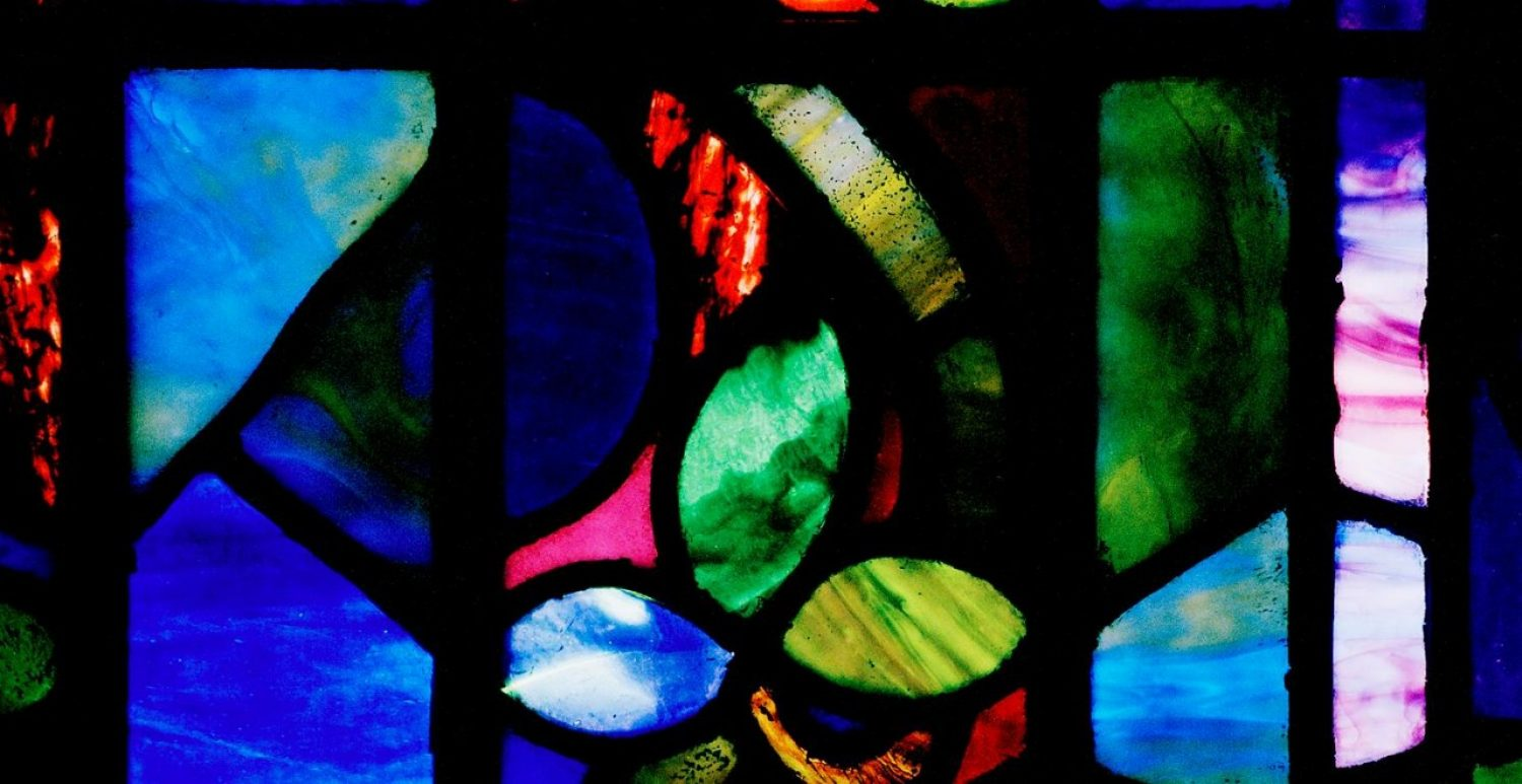 stained glass in Bapst