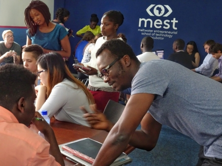 A session of BC TechTrek Ghana at MEST