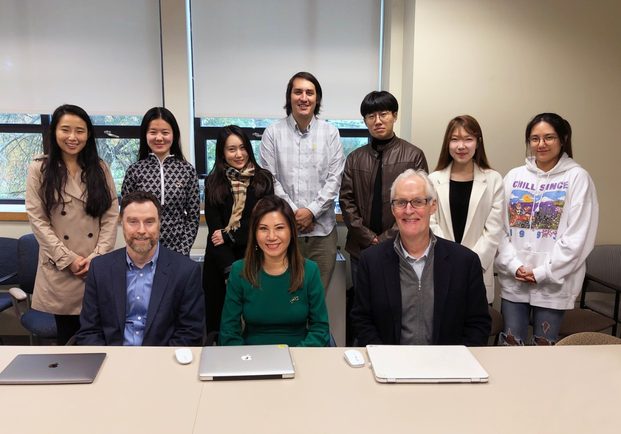 Lynch School of Education faculty and students in South Korea