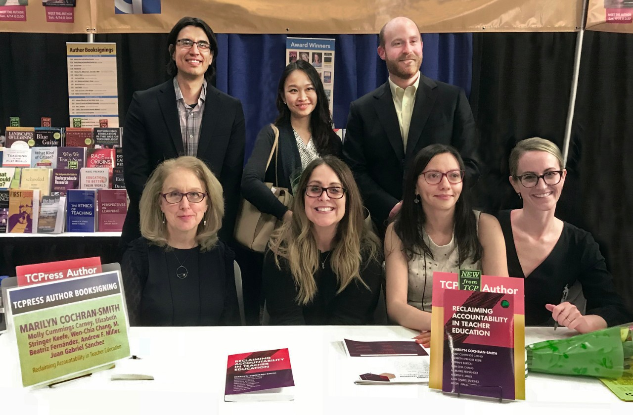 The authors at a book signing