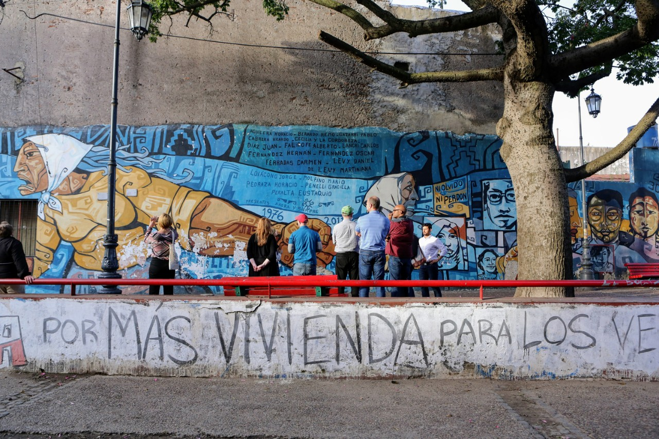 In Buenos Aires, Boston College faculty examined a mural commemorating the struggle for human rights in Argentina