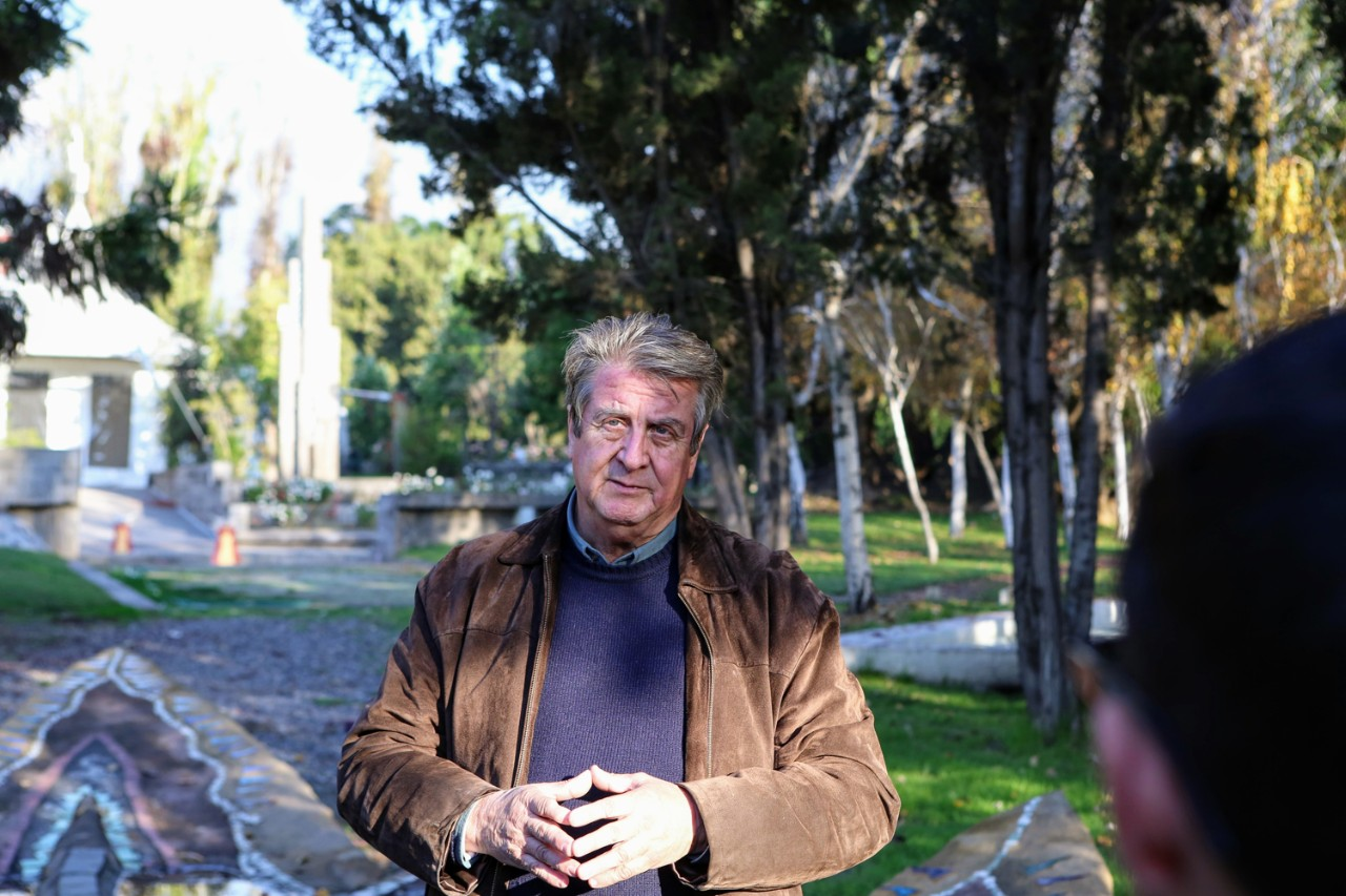 Tour of the former detention center known as Villa Grimaldi, Santiago, Chile. Pictured: Pedro Matta, who was detained in 1975 and tortured during his 16-month detention.