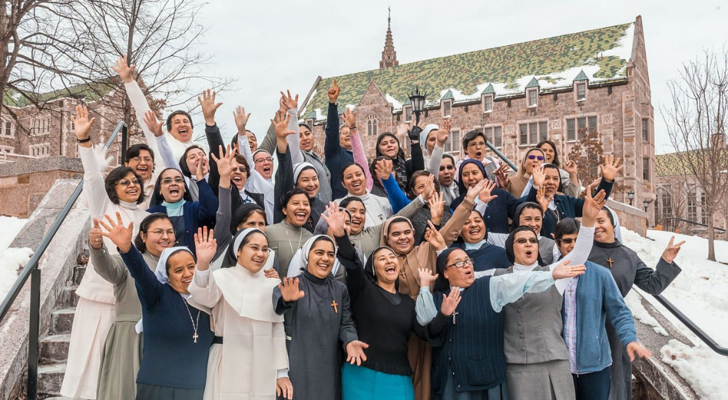 Participants in the Woods College leadership program for the U.S.-Latin American Sisters Exchange