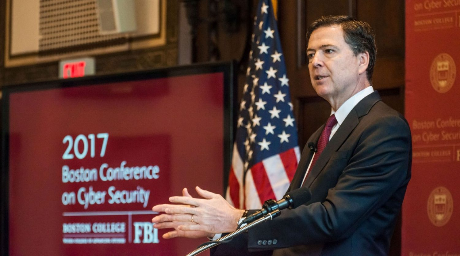 FBI Director James B. Comey at BC conference on cyber security