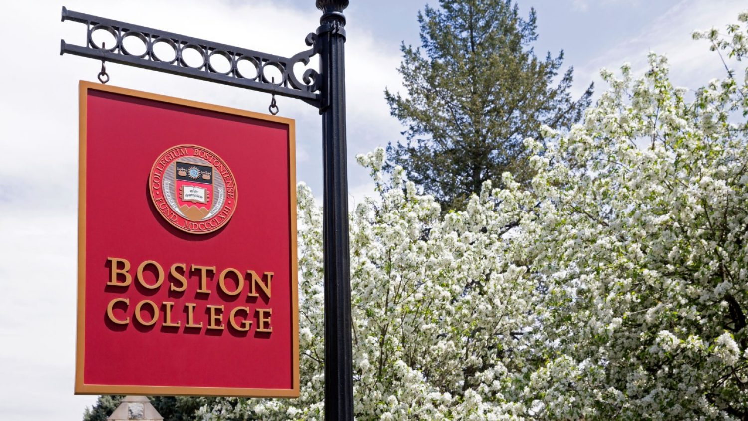 Boston College sign at Main Gate