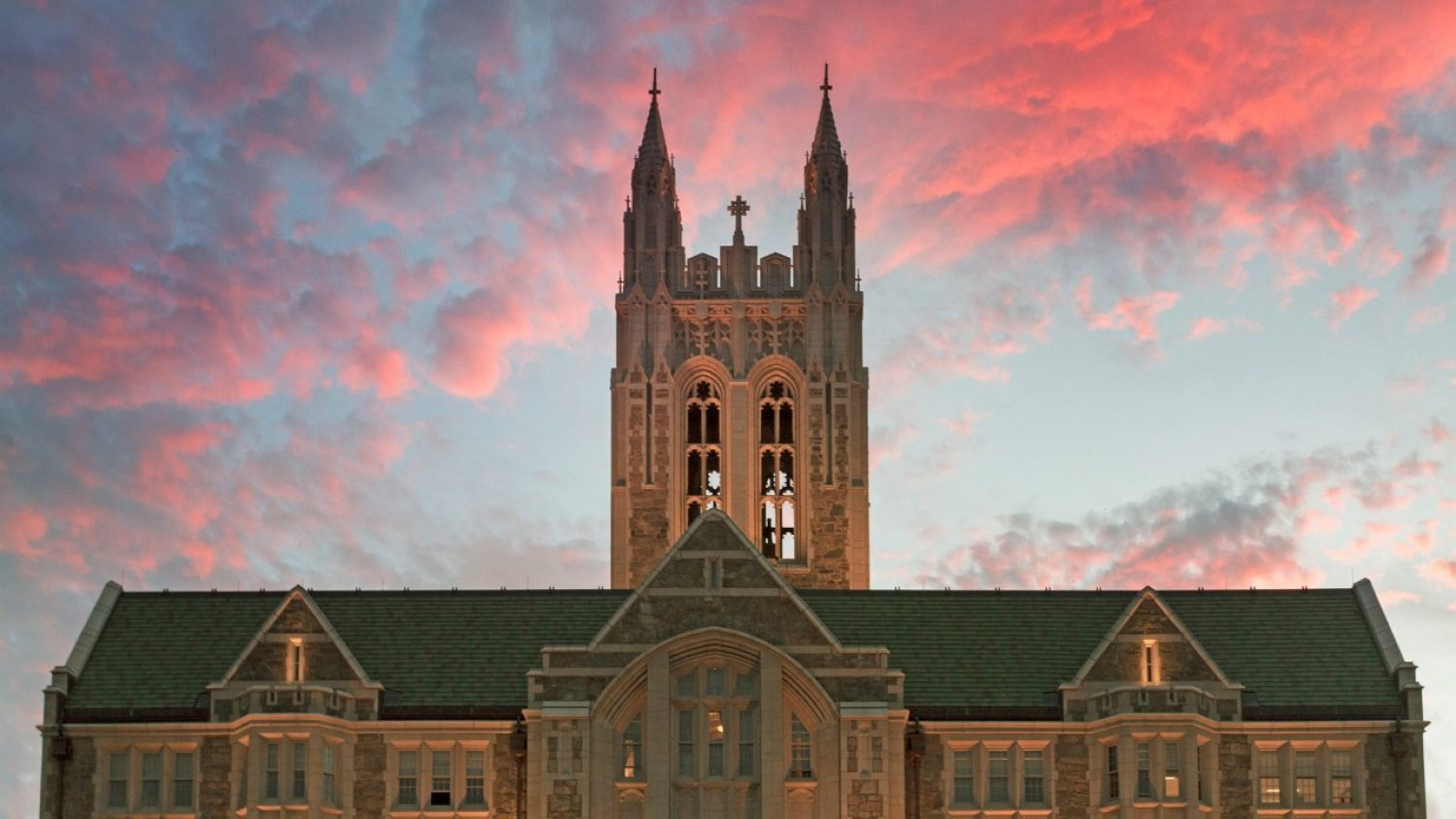 Gasson Hall at sunset
